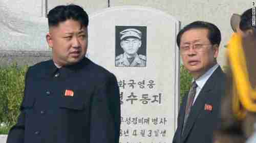 Kim Jong-un and Jang Song-thaek earlier this year