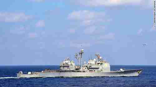 The guided missile cruiser USS Cowpens (CNN)