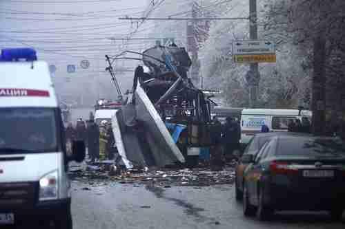 Downtown Volgograd, Monday, after the bus explosion (AP)
