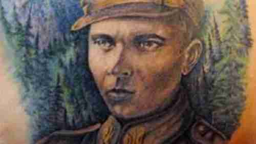 Portrait of Nazi WW II hero Stepan Bandera