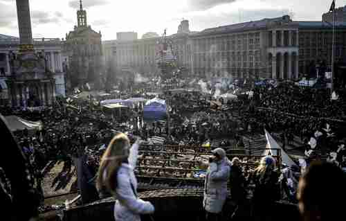 Festive chaos in Kiev (NBC)