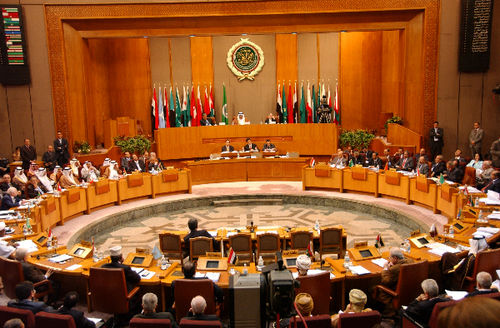 Arab League meeting on Tuesday (AP)