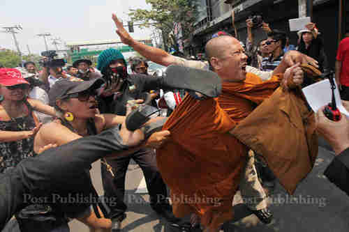 'Red Shirt' pro-government protesters earlier this week (Bangkok Post)
