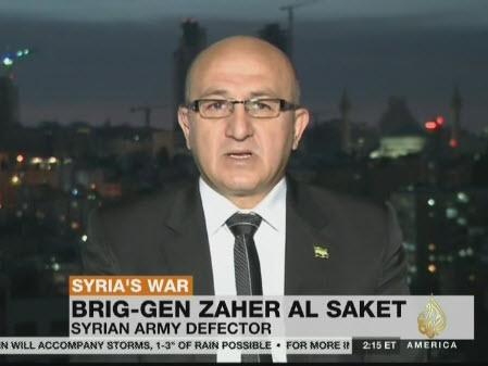 Brig-Gen Zaher al Saket, Syrian army defector