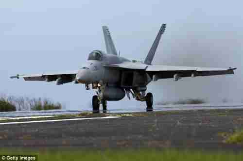 F-18 Super Hornet attack aircraft