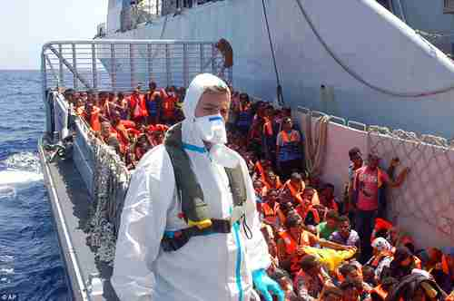Migrants rescued at sea by Italy's 'Mare Nostrum' program (AP)