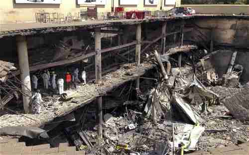 Aftermath of 3-day Sept 2013 al-Shabaab terror attack on Westgate Mall, Nairobi, Kenya.  Two of the terrorists were from the Somali community in Minneapolis