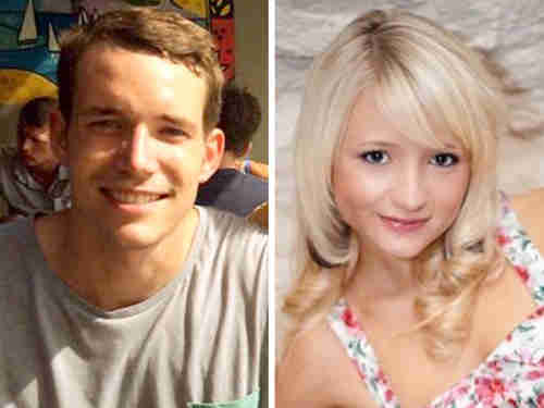 Murdered British tourists David Miller, 24, and Hannah Witheridge, 23