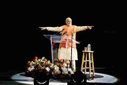 Narendra Modi in Madison Square Garden on Sunday (Reuters)