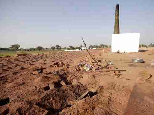 Site of the brick kiln where the Christian couple was burned to death (Express)
