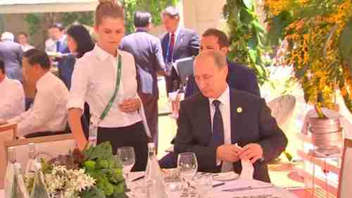 An isolated Vladimir Putin eats lunch alone at G20 meeting on Saturday(Reuters)