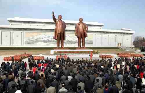 Kim Il Sung 101st anniversary in Pyongyang, North Korea