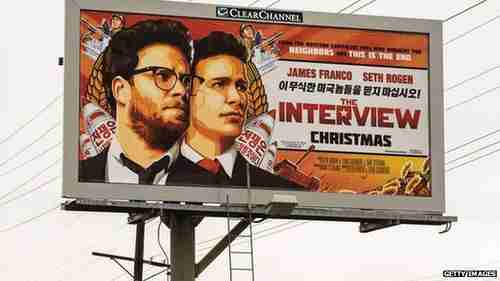 Billboard advertising 'The Interview' (BBC)