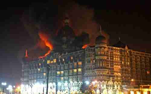 Mumbai's Taj Mahal Palace during the 2008 terror attack