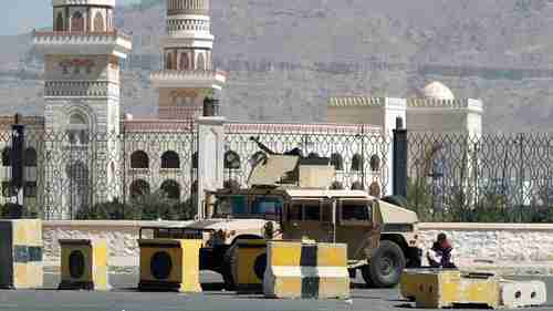 A tank sits near the presidential palace in Sanaa Yemen on Thursday (CNN)