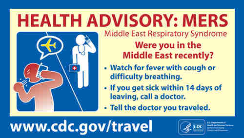 Pictogram: MERS health advisory (CDC)