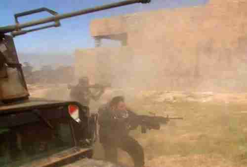 Iraqi forces fighting in Tikrit on Wednesday