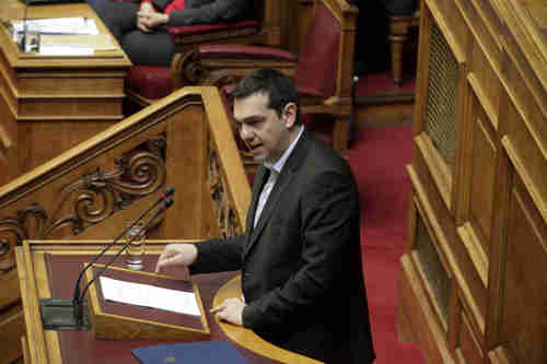 Alexis Tsipras speaking to Greek parliament (Kathimerini)