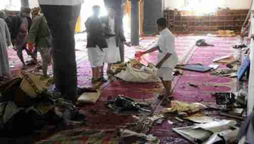 Aftermath of suicide bombing of Shia mosque in Sanaa during Friday prayers (SABA)