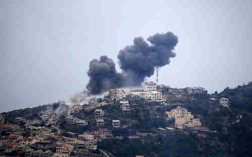 Al-Assad's warplanes bomb the town of Kasab in Latakia province, after the army loses the town to opposition forces (Anadolu)