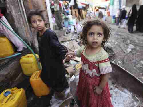 Children in Yemen war zone (Reuters)