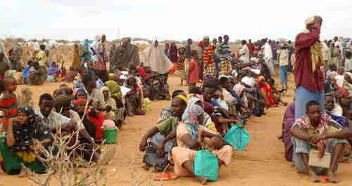 Dadaab refugee camp in Kenya, the largest in the world