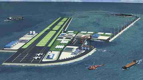 One of China's planned artificial islands in the South China Sea