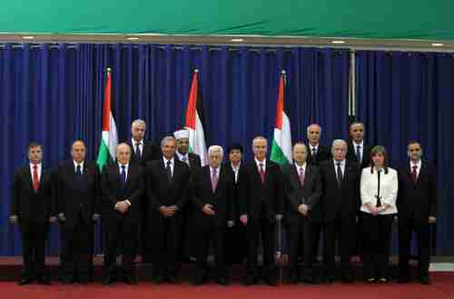 Top officials of the Palestinian 'unity government' as of June 2, 2014 (AFP)