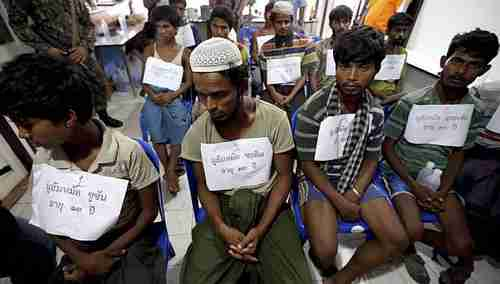 Suspected ethnic Rohingya migrants, who were rescued by Thai officials from a jungle (Asia News Network)