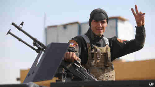 An Iraqi soldier at a base outside Ramadi on May 8th (AFP)