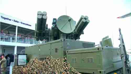 French Crotale (rattlesnake) anti-aircraft missile system