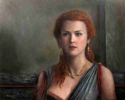 Antigone - oil painting by Trung Cao