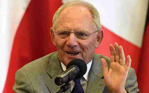 Does Wolfgang Schäuble's broad grin mean that he's ready to compromise? (Kathimerini)