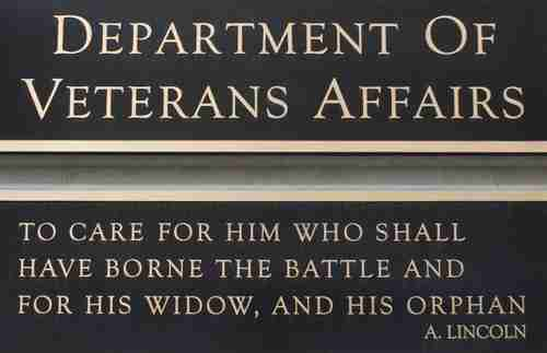 Veterans Affairs plaque