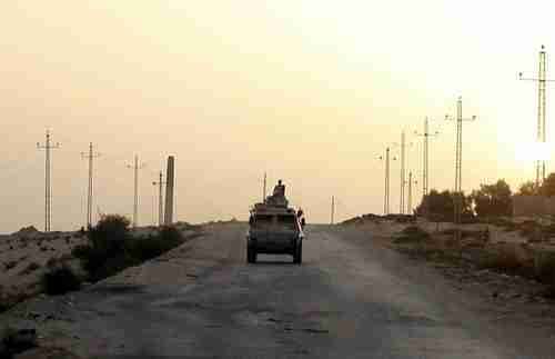 Egyptian military vehicle in Northern Sinai (Reuters)