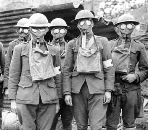Preparing for mustard gas in World War One
