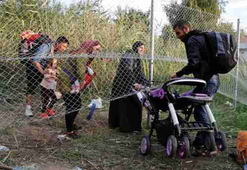 Migrants find a new way to enter Hungary from Serbia, after police sealed the border on Monday (Reuters)