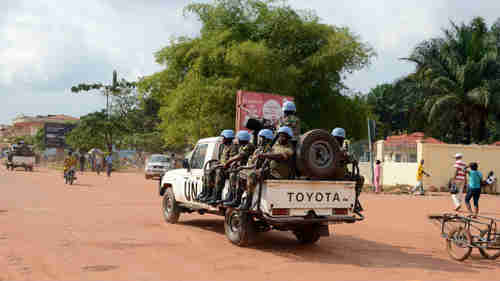 UN peacekeepers on patrol in Bangui in December 2014 (AFP)