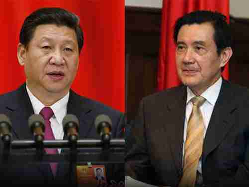 Xi Jinping (left) and Ma Ying-jeou
