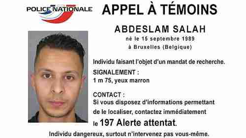 International arrest warrant for French citizen Abdeslam Salah, identified by French and Belgian police as a possible perpetrator of the Paris attacks