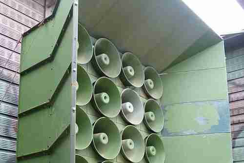 South Korean loudspeakers delivering propaganda to North Korea