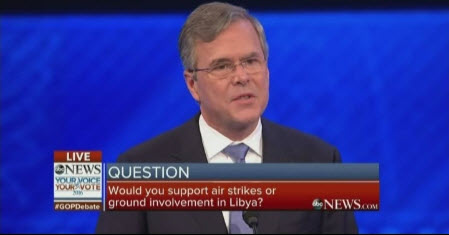 At Republican Debate, Jeb Bush advocates military intervention into Libya