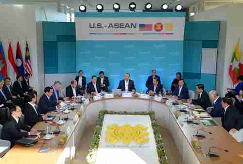 ASEAN meeting in California on Tuesday (AFP)