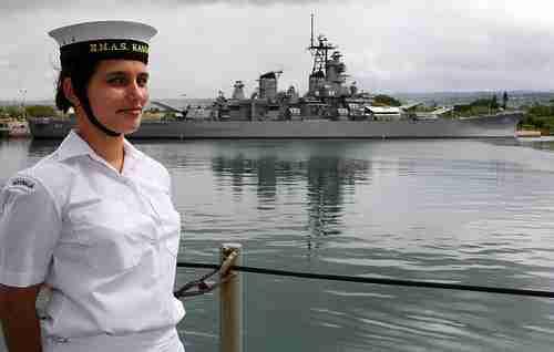 Royal Australian Navy Seaman Steward Ronelle Fitzgerald