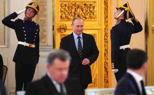 Putin decreed the establishment of a new National Guard on Thursday (Kremlin Press Service)