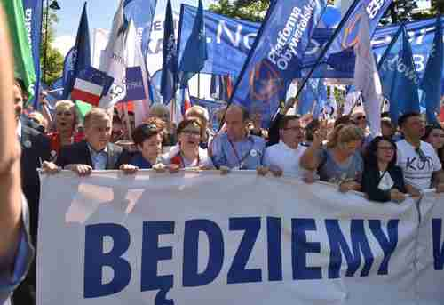 Tens of thousands in anti-government, pro-EU protests in Warsaw, Poland