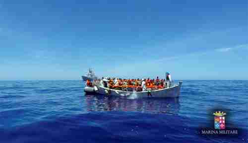 Italy's coast guard rescued over 800 migrants from the Mediterranean Sea on one day, Thursday (Reuters)