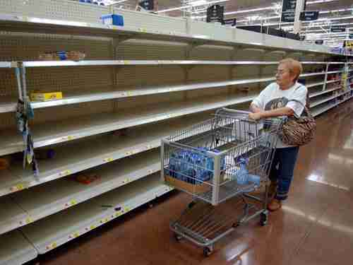 Typical food supermarket in Venezuela