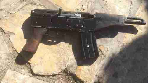 Handmade 'Carlo' gun produced in the West Bank (AP)