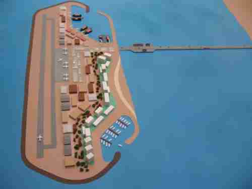 Proposed seaport on artificial island off coast of Gaza